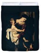 Madonna Di Loreto Duvet Cover
