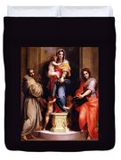 Madonna Of The Harpies Duvet Cover