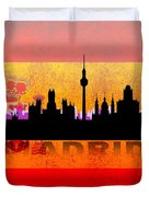 Madrid City Duvet Cover