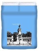 Madrid Skyline Retiro Park - Light Blue Duvet Cover