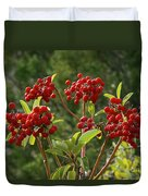 Madrone Berries Duvet Cover