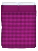 Magenta Checkered Pattern Cloth Background Duvet Cover