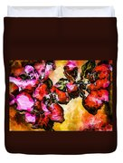 Magenta Flowers  -- Cubism Duvet Cover