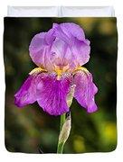 Magenta Iris Crop Duvet Cover