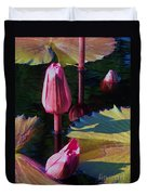 Magenta Lily Pads Duvet Cover