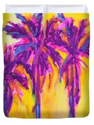 Magenta Palm Trees Duvet Cover