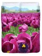 Magenta Tulips Duvet Cover