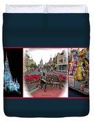 Magic Kingdom Walt Disney World 3 Panel Composite Duvet Cover