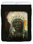 Magic Powers,  Native American Indian Chief Duvet Cover