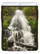 Magical Falls - Fairy Falls In The Columbia River Gorge Area Of Oregon Duvet Cover