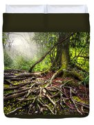Magical Light On The Appalachian Trail Duvet Cover by Debra and Dave Vanderlaan