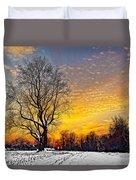 Magical Winter Sunset Duvet Cover