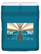 Maglev Train In Shanghai China Duvet Cover