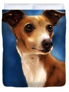 Magnifico - Italian Greyhound Duvet Cover by Michelle Wrighton