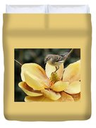 Magnolia And Warbler Photo Duvet Cover