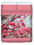 Magnolia Blossoms In Spring Duvet Cover