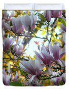 Magnolia Maidens In A Border Duvet Cover