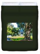 Magnolia Mansion Duvet Cover