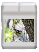 Magnolia Warbler Duvet Cover