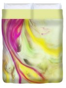 Magnolia Watercolor Abstraction Painting Duvet Cover
