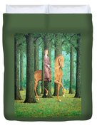 Magritte's The Blank Signature Duvet Cover