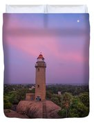 Mahabalipuram Lighthouse India At Sunset Duvet Cover