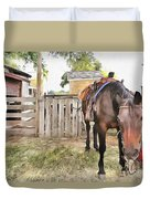 Mahaffie Stagecoach Stop And Farm Duvet Cover