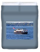 Mail Delivery Boat Lake Geneva Wisconsin Duvet Cover