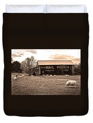 Mail Pouch Tobacco Barn And Sheep Duvet Cover