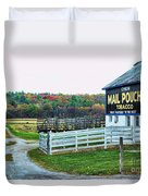 Mail Pouch Tobacco Barn In The Fall Duvet Cover