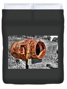 Mailbox With Character Duvet Cover by Kaye Menner
