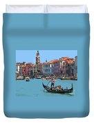 Main Canal Venice Italy Duvet Cover