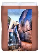 Main Entrance Of Guggenheim Bilbao Museum In The Basque Country Spain Duvet Cover