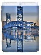 Main Street Bridge Jacksonville Florida Duvet Cover