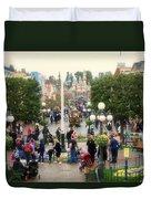 Main Street Disneyland 02 Duvet Cover