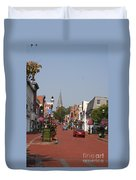 Main Street In Downtown Annapolis Duvet Cover