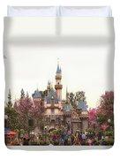 Main Street Sleeping Beauty Castle Disneyland 02 Duvet Cover