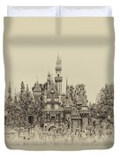Main Street Sleeping Beauty Castle Disneyland Heirloom 01 Duvet Cover