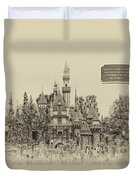 Main Street Sleeping Beauty Castle Disneyland Heirloom 03 Duvet Cover