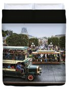 Main Street Transportation Disneyland Duvet Cover