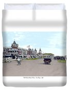 Maine - Old Orchard Beach Train Depot - 1910 Duvet Cover