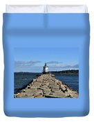 maine 43 Portland Lighthouse Duvet Cover