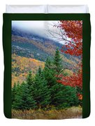 maine 57 Baxter State Park Loop Road Fall Foliage Duvet Cover