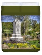 Maine At Gettysburg - 5th Maine Volunteer Infantry Regiment Just North Of Little Round Top Duvet Cover by Michael Mazaika