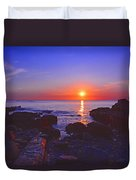 Maine Coast Sunrise Duvet Cover