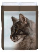 Maine Coon Painting Duvet Cover