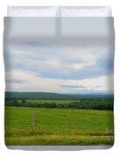 Maine Farmland Duvet Cover