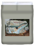 Maine Rock Painting Duvet Cover