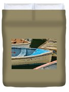 Maine Rowboats Duvet Cover