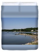 Maine Seascape Duvet Cover